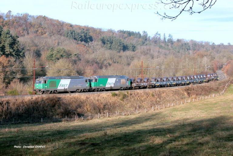 UM de BB 67400 SNCF vers Andelat (F-15)
