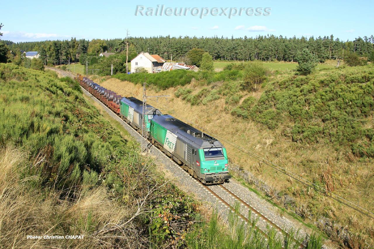 UM de BB 75400 SNCF près de Saint Chély d'Apcher (F 48)