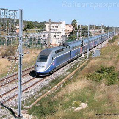 UM de TGV Duplex SNCF à Mireval (F-34)