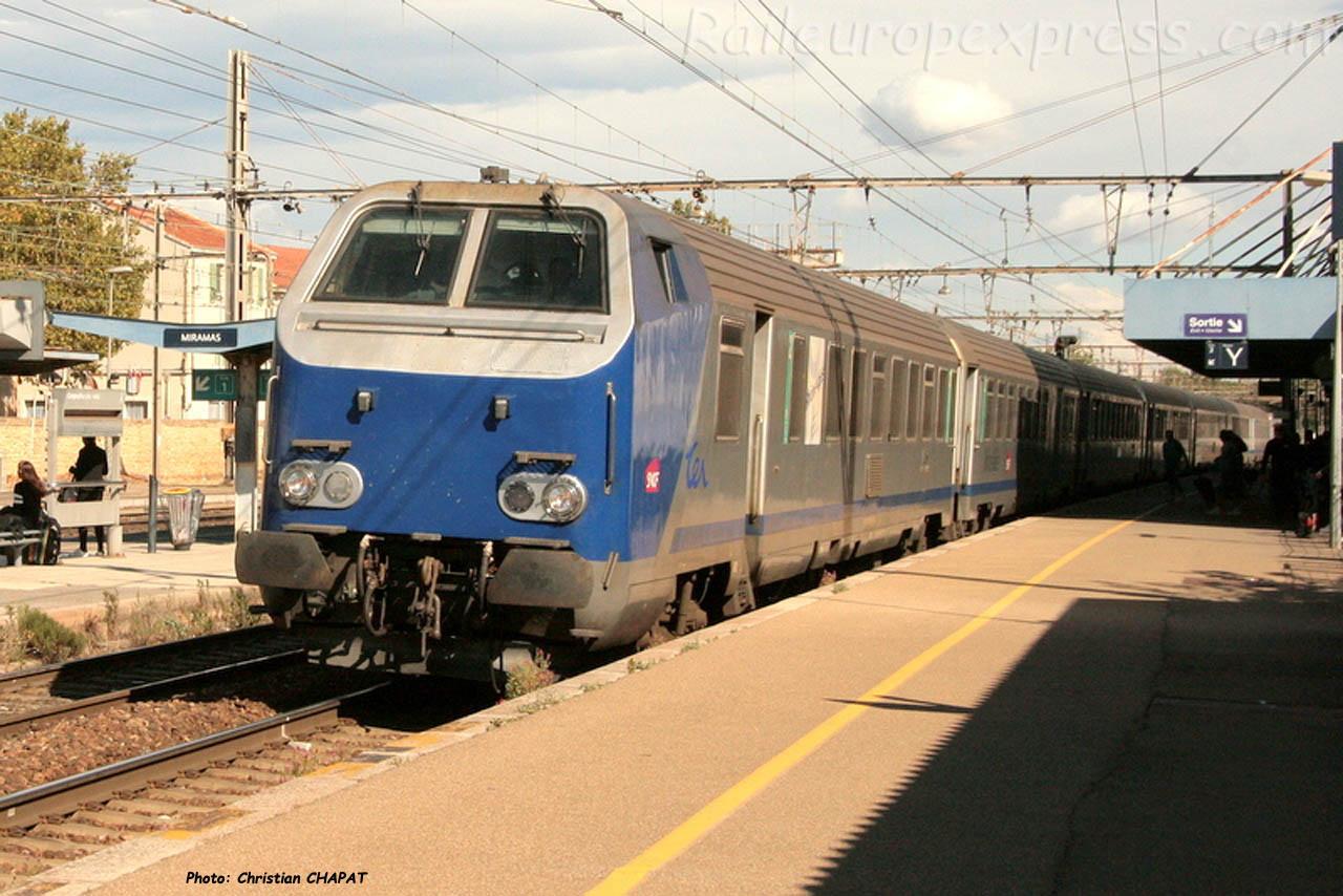 Voiture pilote SNCF à Miramas (F-13)