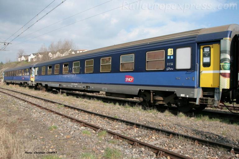 Voitures Lunéa SNCF à Saint Flour (F-15)
