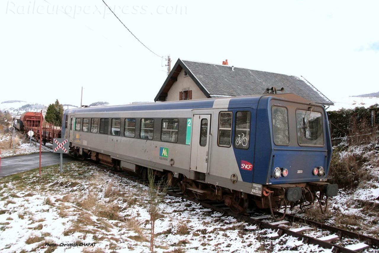 X 2233 du CFHA ex SNCF à Allanche (F-15)