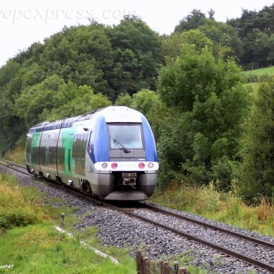 X 76666 SNCF à Neussargues (F-15)