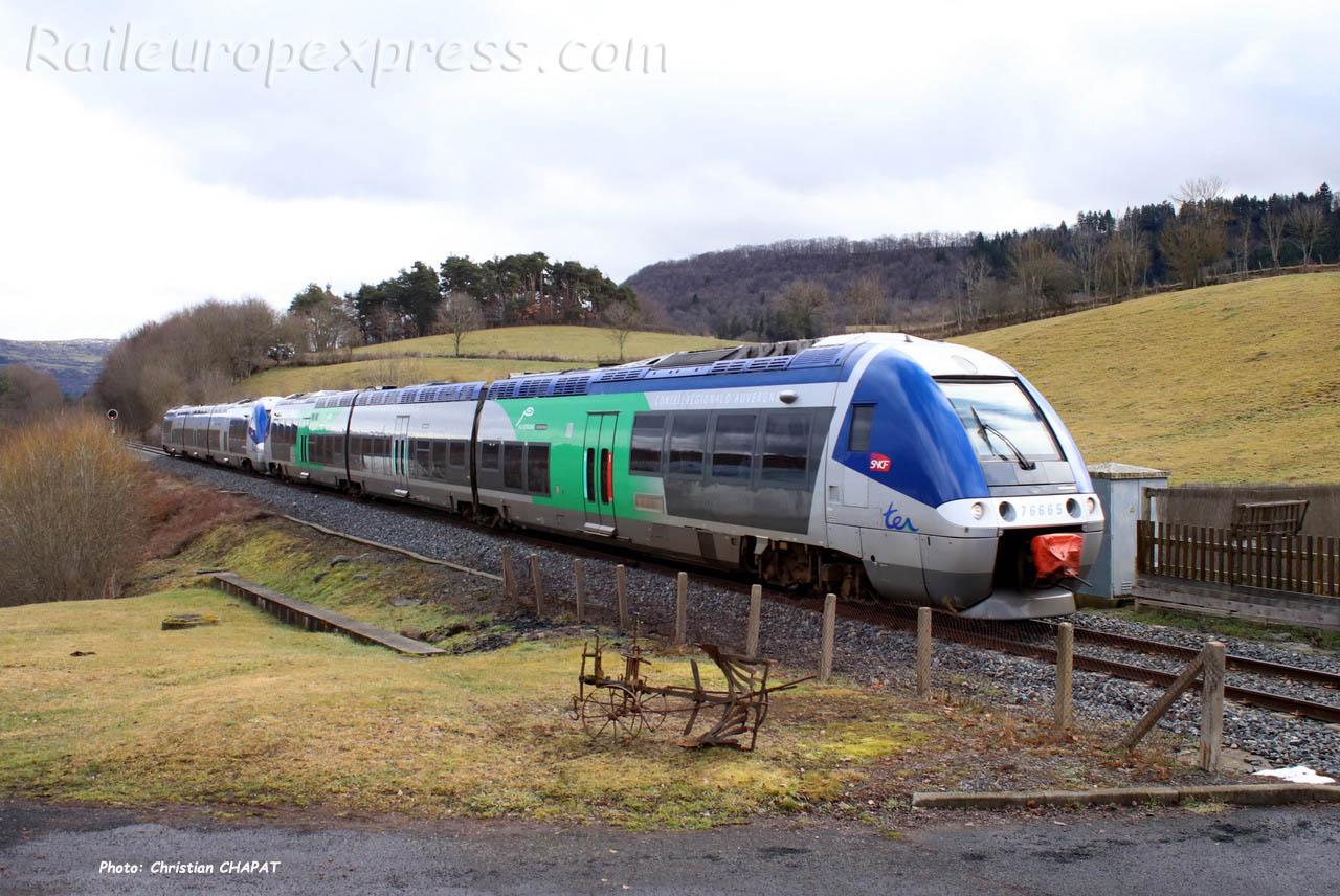 X 76665 SNCF à Neussargues (F-15)