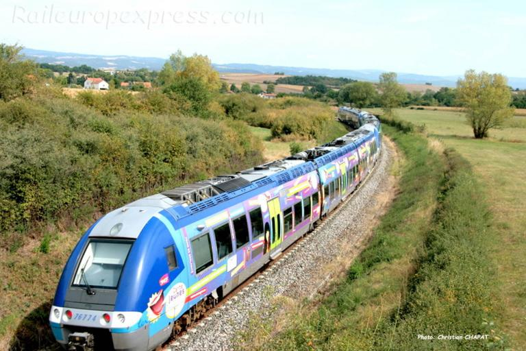 X 76774 SNCF à Arvant (F-43)