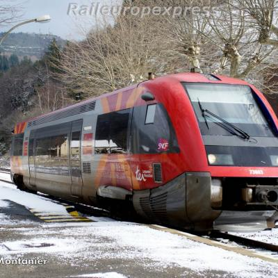 X 73803 gare de Villefort