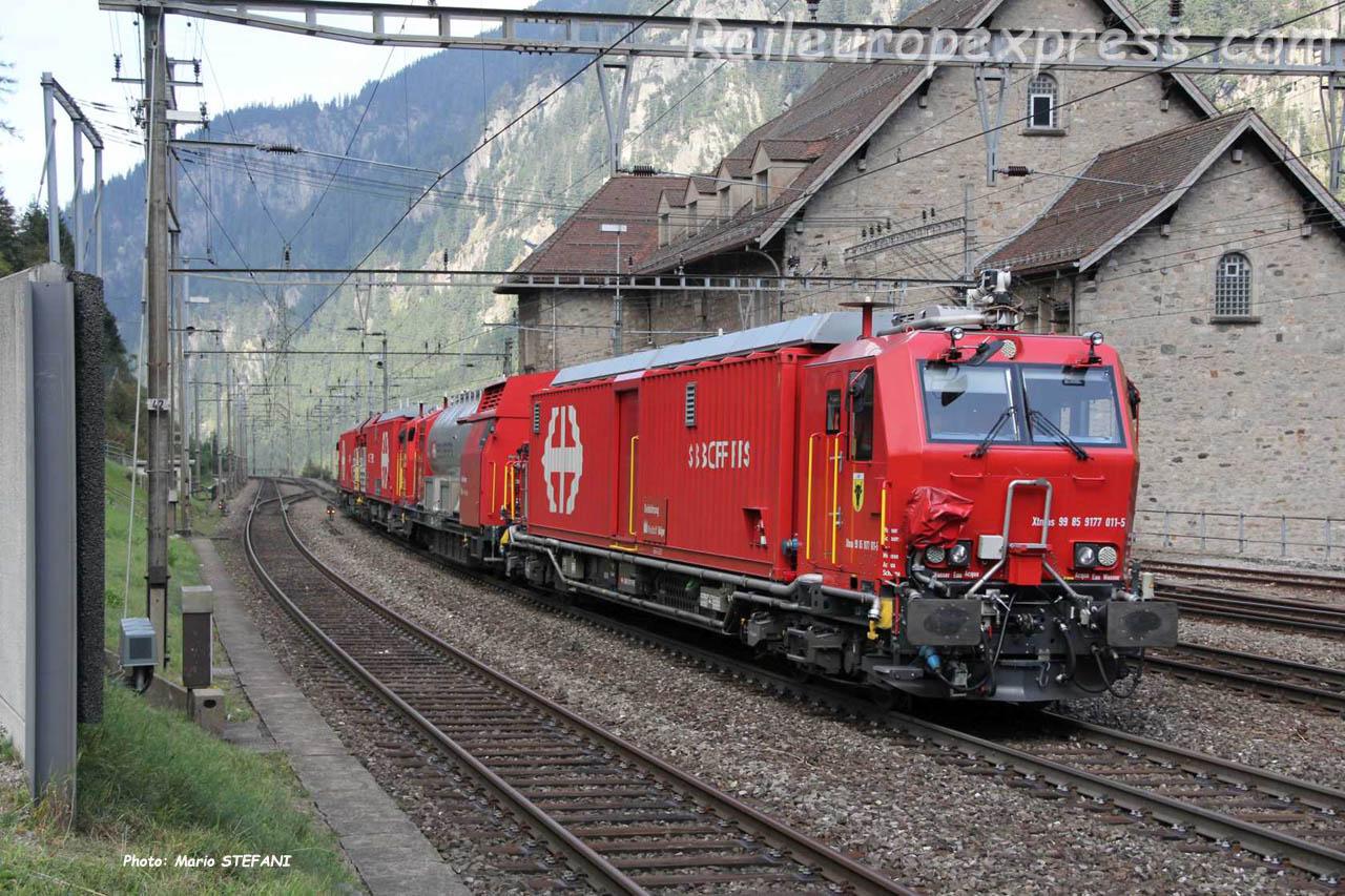 XTmass 9177 011-5 CFF à Goeschenen (CH)