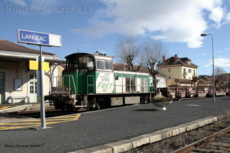 Y 8182 SNCF à Langeac (F-43)