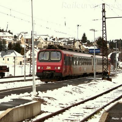 Z 7514 SNCF à Saint Chély d'Apcher (F-48)