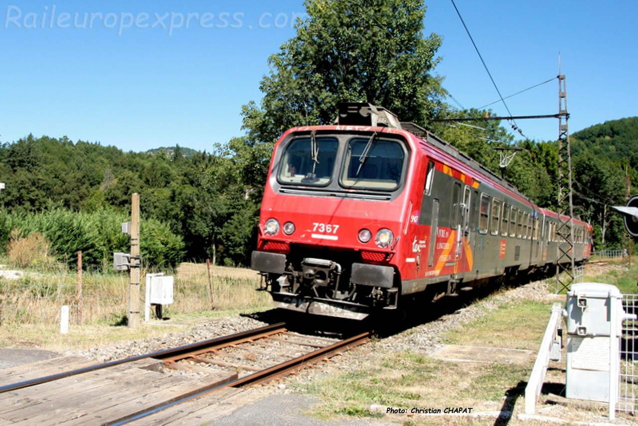 Z 7367 SNCF à Lescure de Banassac (F-48)