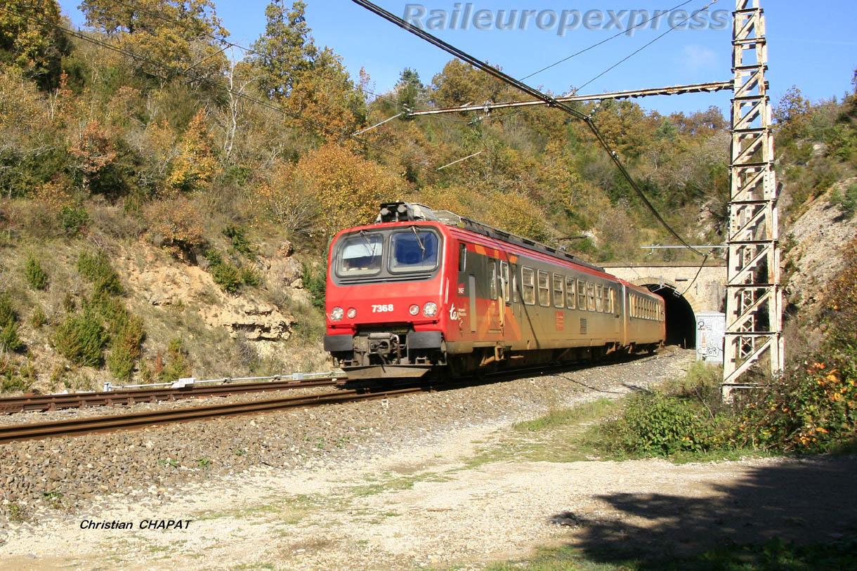 Z 7368 SNCF sur la ligne des Causses